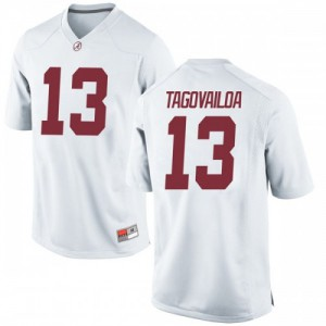 Men Alabama Crimson Tide Tua Tagovailoa #13 College White Game Football Jersey 437238-692