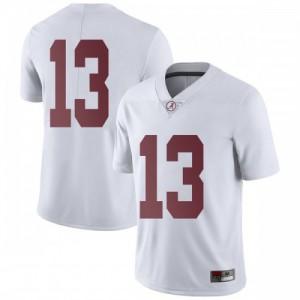 Men Alabama Crimson Tide Tua Tagovailoa #13 College White Limited Football Jersey 671598-600