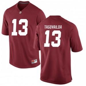 Men Alabama Crimson Tide Tua Tagovailoa #13 College Crimson Replica Football Jersey 878963-650