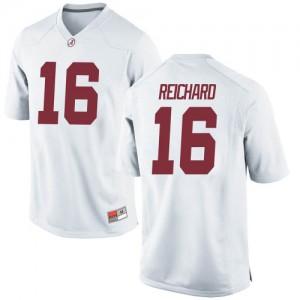 Men Alabama Crimson Tide Will Reichard #16 College White Game Football Jersey 183100-655