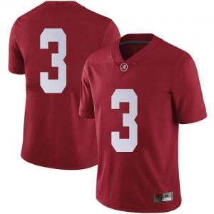 Men Alabama Crimson Tide Xavier Williams #3 College Crimson Limited Football Jersey 482077-663