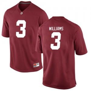Men Alabama Crimson Tide Xavier Williams #3 College Crimson Replica Football Jersey 252074-237