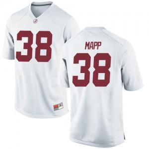 Men Alabama Crimson Tide Zavier Mapp #38 College White Replica Football Jersey 246463-651