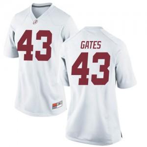 Women Alabama Crimson Tide A.J. Gates #43 College White Replica Football Jersey 449078-720