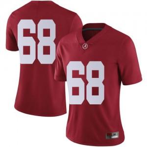 Women Alabama Crimson Tide Alajujuan Sparks Jr. #68 College Crimson Limited Football Jersey 955655-131