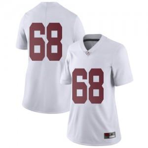 Women Alabama Crimson Tide Alajujuan Sparks Jr. #68 College White Limited Football Jersey 984259-494
