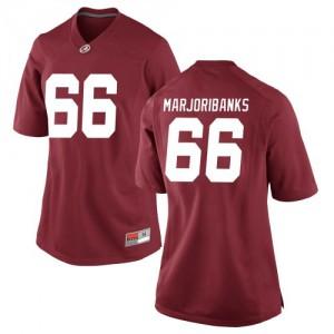 Women Alabama Crimson Tide Alec Marjoribanks #66 College Crimson Game Football Jersey 373006-186