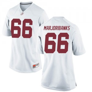 Women Alabama Crimson Tide Alec Marjoribanks #66 College White Replica Football Jersey 577872-611