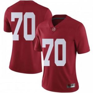 Women Alabama Crimson Tide Alex Leatherwood #70 College Crimson Limited Football Jersey 210720-613
