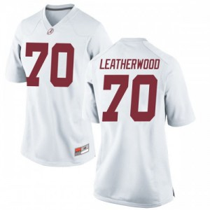 Women Alabama Crimson Tide Alex Leatherwood #70 College White Replica Football Jersey 550895-740