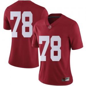 Women Alabama Crimson Tide Amari Kight #78 College Crimson Limited Football Jersey 554113-994