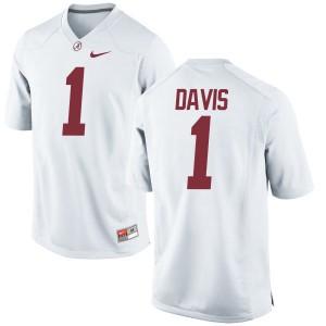 Women Alabama Crimson Tide Ben Davis #1 College White Authentic Football Jersey 865970-839