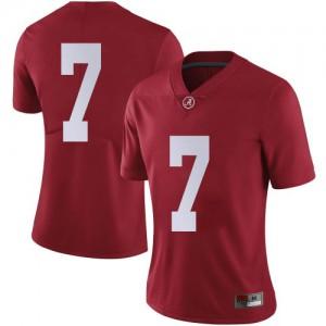 Women Alabama Crimson Tide Brandon Turnage #7 College Crimson Limited Football Jersey 943818-880
