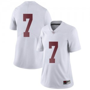 Women Alabama Crimson Tide Brandon Turnage #7 College White Limited Football Jersey 560216-883