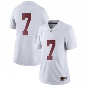 Women Alabama Crimson Tide Braxton Barker #7 College White Limited Football Jersey 318455-359