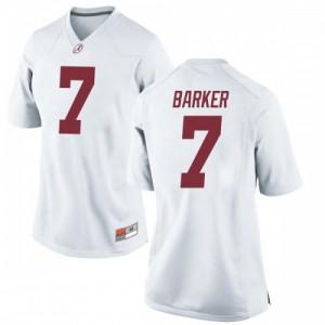 Women Alabama Crimson Tide Braxton Barker #7 College White Replica Football Jersey 157454-127