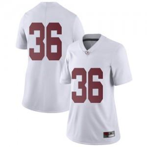 Women Alabama Crimson Tide Bret Bolin #36 College White Limited Football Jersey 820696-700