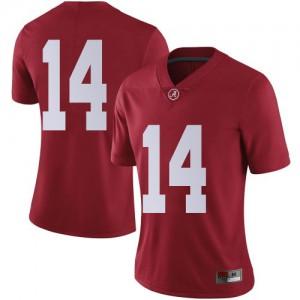 Women Alabama Crimson Tide Brian Branch #14 College Crimson Limited Football Jersey 914224-687