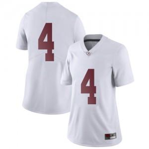 Women Alabama Crimson Tide Brian Robinson Jr. #4 College White Limited Football Jersey 795351-808