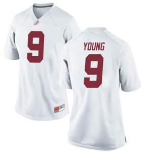 Women Alabama Crimson Tide Bryce Young #9 College White Game Football Jersey 634989-554