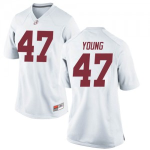 Women Alabama Crimson Tide Byron Young #9 College White Game Football Jersey 587049-464