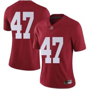 Women Alabama Crimson Tide Byron Young #9 College Crimson Limited Football Jersey 902419-598