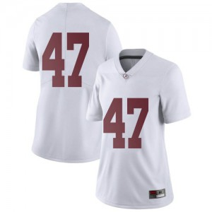 Women Alabama Crimson Tide Byron Young #9 College White Limited Football Jersey 501327-336