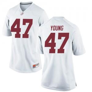 Women Alabama Crimson Tide Byron Young #9 College White Replica Football Jersey 964932-828