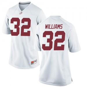 Women Alabama Crimson Tide C.J. Williams #32 College White Game Football Jersey 482084-349