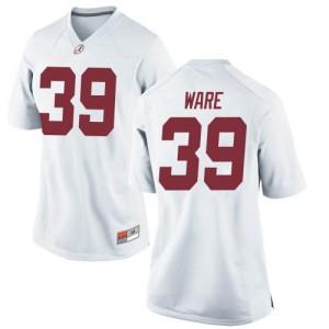Women Alabama Crimson Tide Carson Ware #39 College White Replica Football Jersey 753313-874