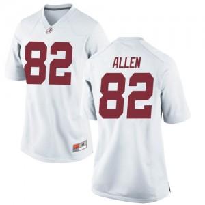 Women Alabama Crimson Tide Chase Allen #82 College White Replica Football Jersey 576931-381