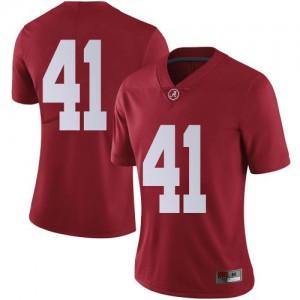 Women Alabama Crimson Tide Chris Braswell #41 College Crimson Limited Football Jersey 627132-609