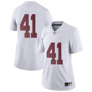 Women Alabama Crimson Tide Chris Braswell #41 College White Limited Football Jersey 634629-994