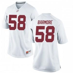 Women Alabama Crimson Tide Christian Barmore #58 College White Replica Football Jersey 863015-669