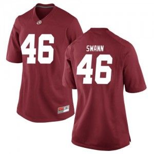 Women Alabama Crimson Tide Christian Swann #46 College Crimson Replica Football Jersey 247344-827
