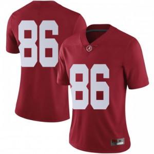 Women Alabama Crimson Tide Connor Adams #86 College Crimson Limited Football Jersey 741726-681