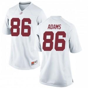 Women Alabama Crimson Tide Connor Adams #86 College White Replica Football Jersey 487736-556