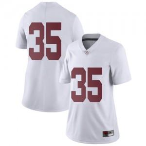 Women Alabama Crimson Tide Cooper Bishop #35 College White Limited Football Jersey 446329-717