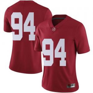 Women Alabama Crimson Tide DJ Dale #94 College Crimson Limited Football Jersey 446776-759