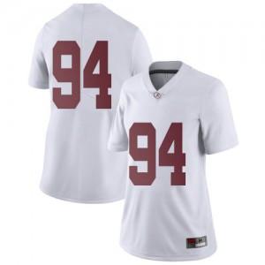 Women Alabama Crimson Tide DJ Dale #94 College White Limited Football Jersey 917133-579