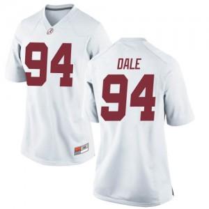 Women Alabama Crimson Tide DJ Dale #94 College White Replica Football Jersey 325936-927