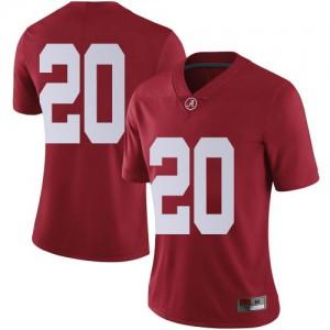 Women Alabama Crimson Tide DJ Douglas #20 College Crimson Limited Football Jersey 854332-991