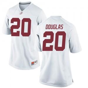 Women Alabama Crimson Tide DJ Douglas #20 College White Replica Football Jersey 347120-822