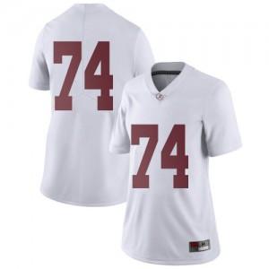 Women Alabama Crimson Tide Damieon George Jr. #74 College White Limited Football Jersey 667792-779