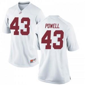 Women Alabama Crimson Tide Daniel Powell #43 College White Replica Football Jersey 666389-818