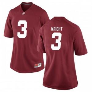 Women Alabama Crimson Tide Daniel Wright #3 College Crimson Game Football Jersey 219233-955