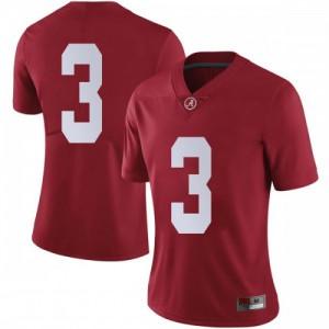 Women Alabama Crimson Tide Daniel Wright #3 College Crimson Limited Football Jersey 833079-224