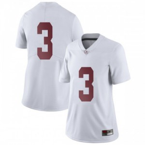 Women Alabama Crimson Tide Daniel Wright #3 College White Limited Football Jersey 194985-875