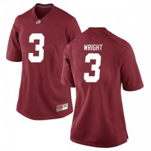 Women Alabama Crimson Tide Daniel Wright #3 College Crimson Replica Football Jersey 497075-458