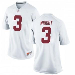 Women Alabama Crimson Tide Daniel Wright #3 College White Replica Football Jersey 447181-847